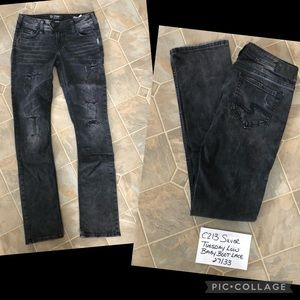 Silver Tuesday Black Lace Jeans